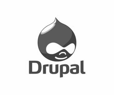 Drupal icon black and white